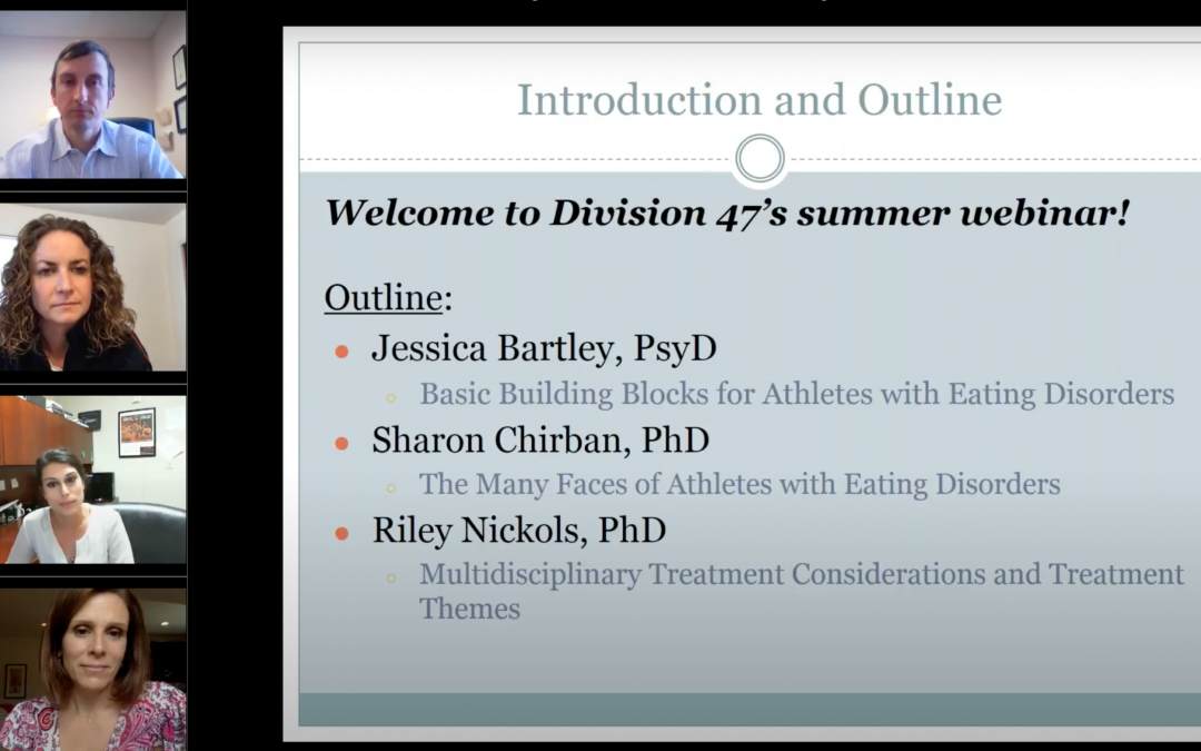 APA Division 47 Webinar: Lessons Learned While Working with Athletes and Eating Disorders